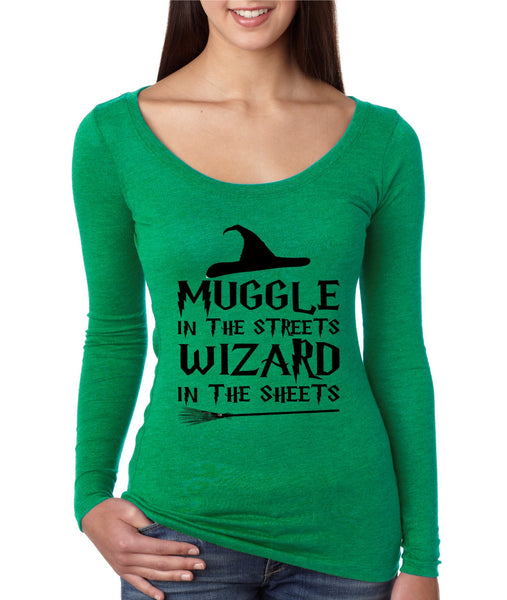 Women's Shirt Muggle In The Streets Wizard In The Sheets - ALLNTRENDSHOP - 3