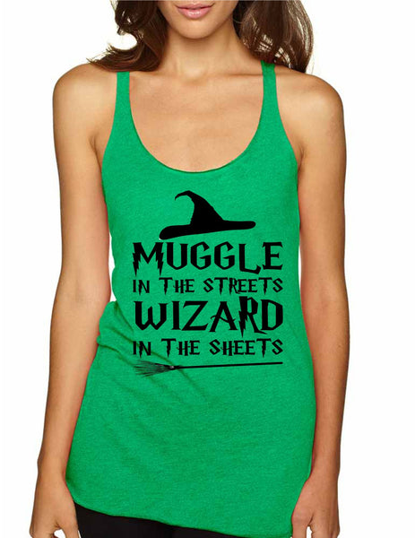 Women's Tank Top Muggle In The Streets Wizard In The Sheets - ALLNTRENDSHOP - 6