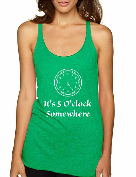 Women's Tank Top It's 5 O'clock Somewhere Drinking Party Top - ALLNTRENDSHOP - 6