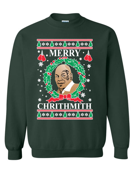 Adult Sweatshirt Merry Christhmith Mike Tyson Ugly Xmas Holiday Gift