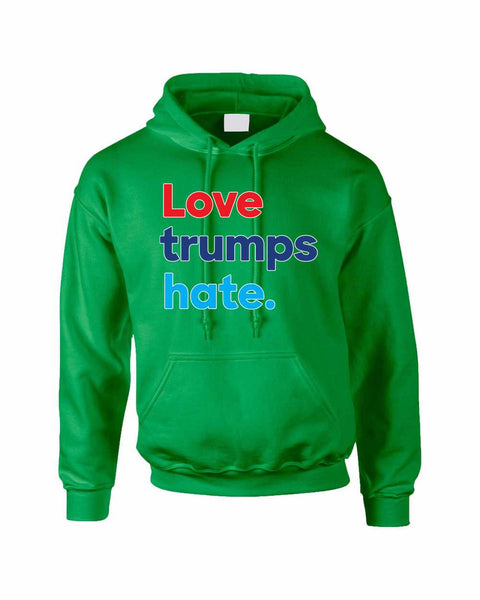 Adult Hoodie Love Trumps Hate Donald Trump USA Sweater - ALLNTRENDSHOP - 3