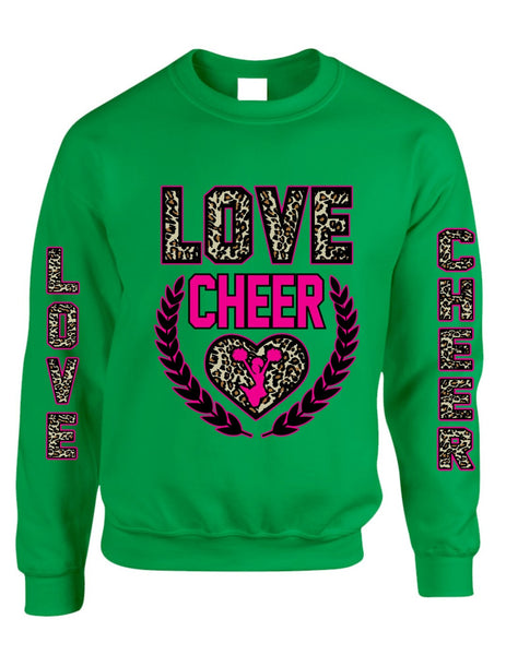 Love Cheer Leopard womens Sweatshirts - ALLNTRENDSHOP - 2