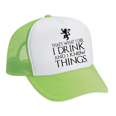 Snapback Hat That's What I Do I Drink And I Know Things Cool - ALLNTRENDSHOP