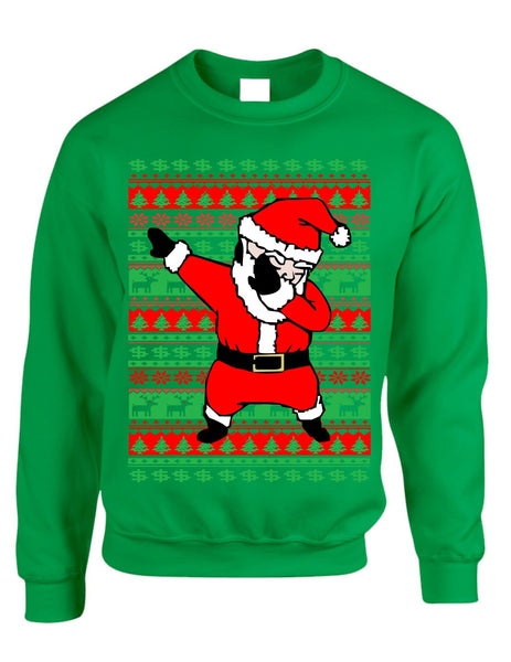 Dabbing santa ugly christmas sweater women sweatshirt - ALLNTRENDSHOP