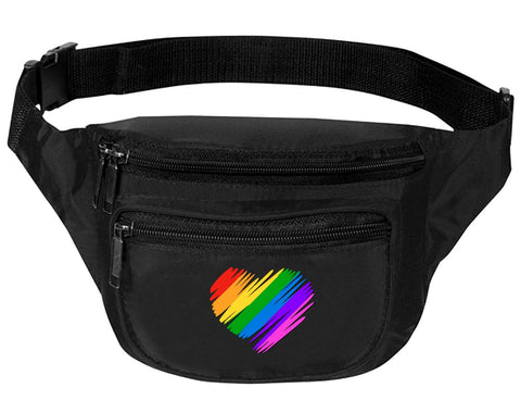 Adult Waist Pack Pride Colors Heart Support Gay Gift Trendy Fun Packs