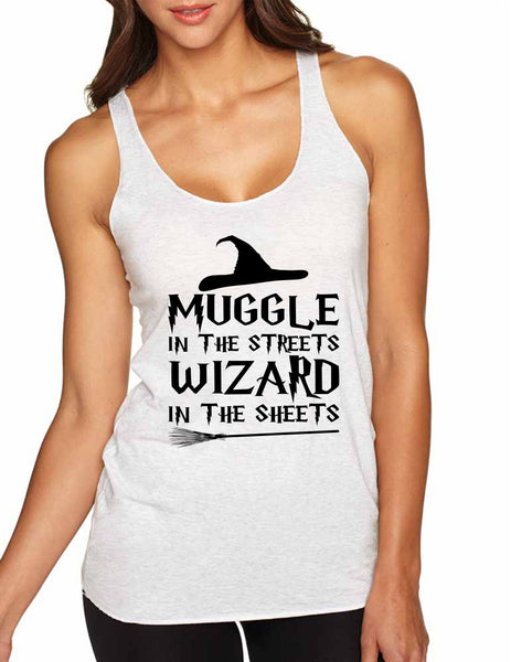 Women's Tank Top Muggle In The Streets Wizard In The Sheets - ALLNTRENDSHOP - 5