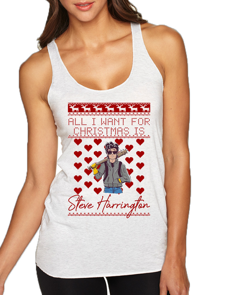 All I Want For Christmas Is Harrington Stranger Xmas Women's Tank