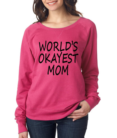World's OKayest mom mothers day Women's Long Sleeve Shirt - ALLNTRENDSHOP - 1