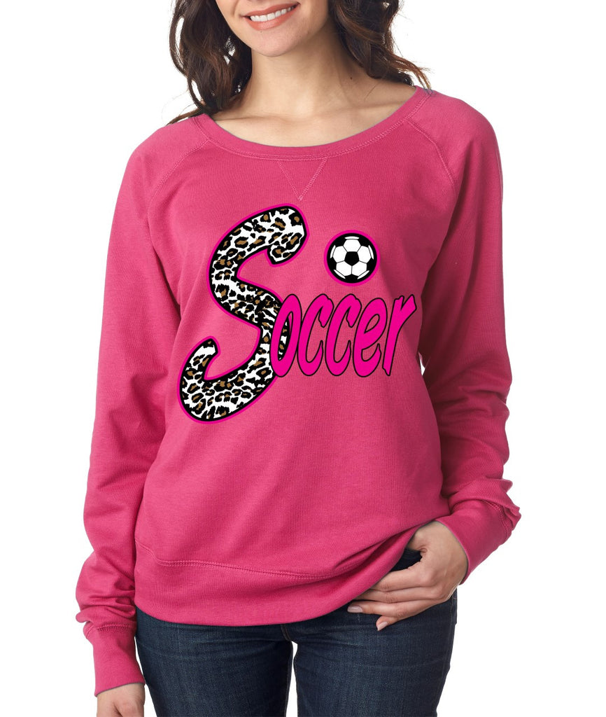Soccer White Leopard women`s long sleeve Pullover - ALLNTRENDSHOP - 1