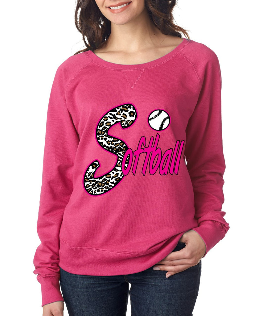 Softball White Leopard cheetah women`s long sleeve Pullover - ALLNTRENDSHOP - 2