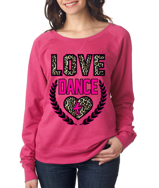 Love Dance Leopard Womens long sleeve Pullover - ALLNTRENDSHOP - 2