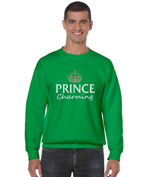Men's Crewneck Prince Charming Cool Funny Humor Top - ALLNTRENDSHOP - 2