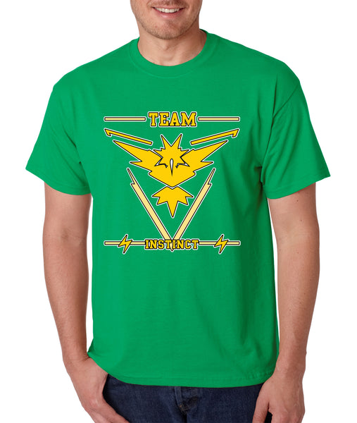 Men's T Shirt Team Instinct Yellow Team Shirt