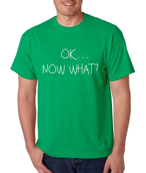 Men's T Shirt OK Now What? Funny Cool Stuff Humor T Shirt - ALLNTRENDSHOP - 5