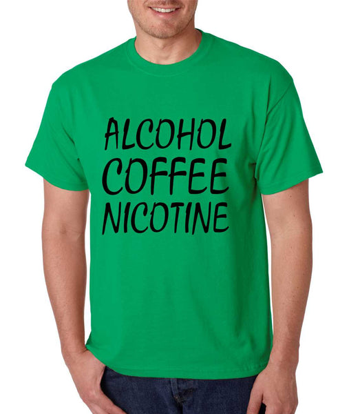 Men's T Shirt Alcohol Coffee Nicotine Cool Funny T Shirt - ALLNTRENDSHOP - 2