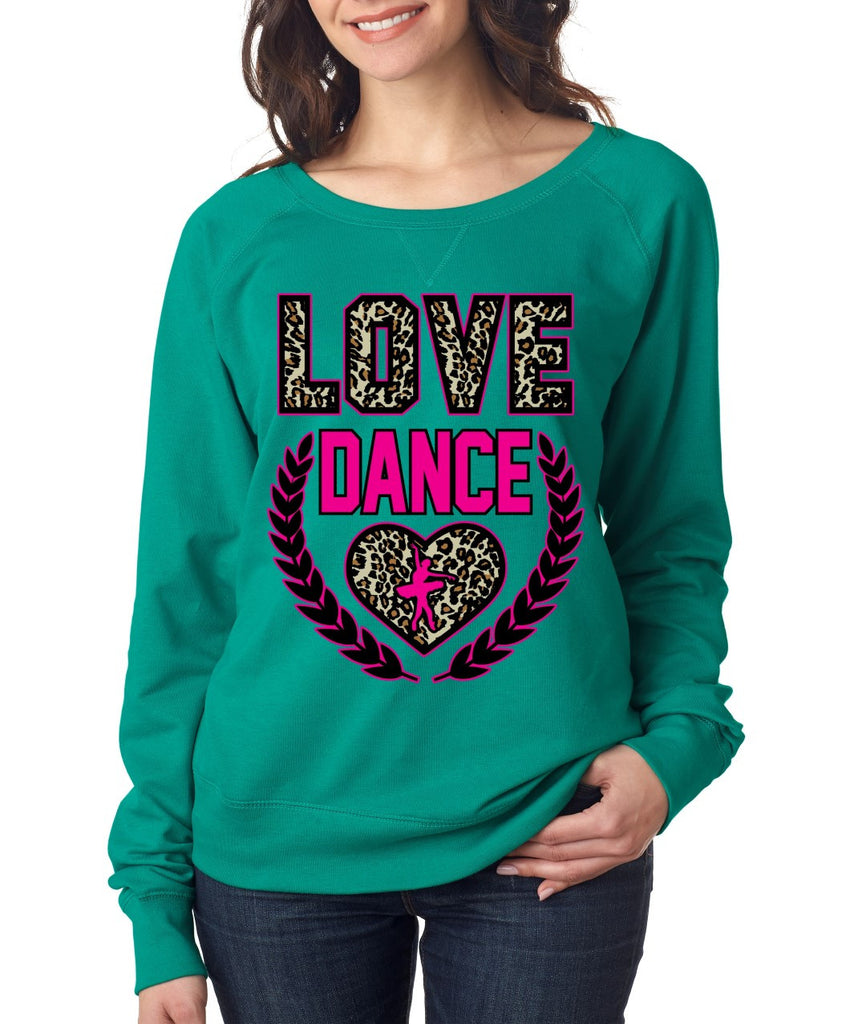 Love Dance Leopard Womens long sleeve Pullover - ALLNTRENDSHOP - 3