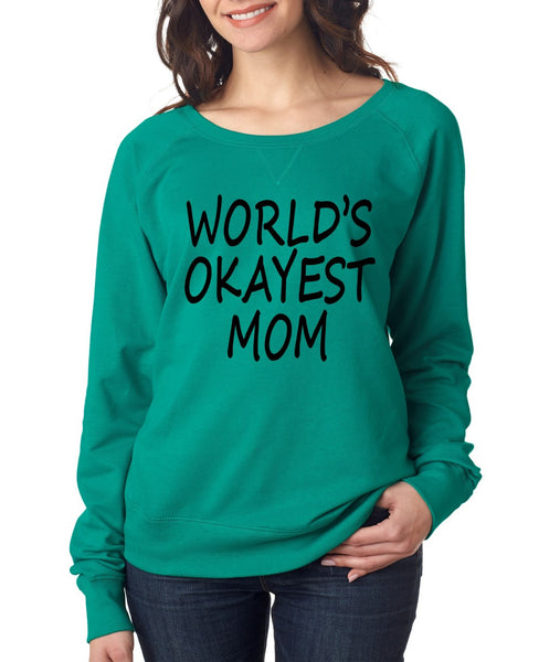 World's OKayest mom mothers day Women's Long Sleeve Shirt - ALLNTRENDSHOP - 2