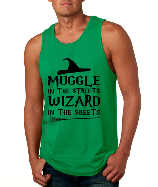 Men's Tank Top Muggle In The Streets Wizard In The Sheets Cool Top - ALLNTRENDSHOP - 4