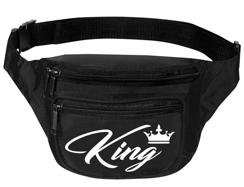 Adult Waist Pack King Customized Travel Bag Sport Cool Funny Packs