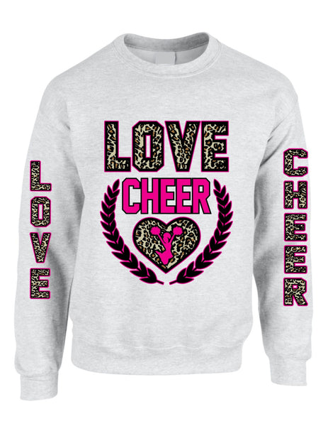 Love Cheer Leopard womens Sweatshirts - ALLNTRENDSHOP - 3