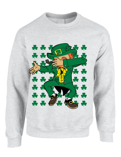 Dabbing Irish Leprechaun St patrick women sweatshirt - ALLNTRENDSHOP