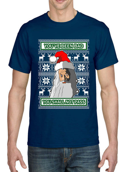 Men's T Shirt You Shall Not Pass Ugly Xmas Trendy Christmas Fans Gift