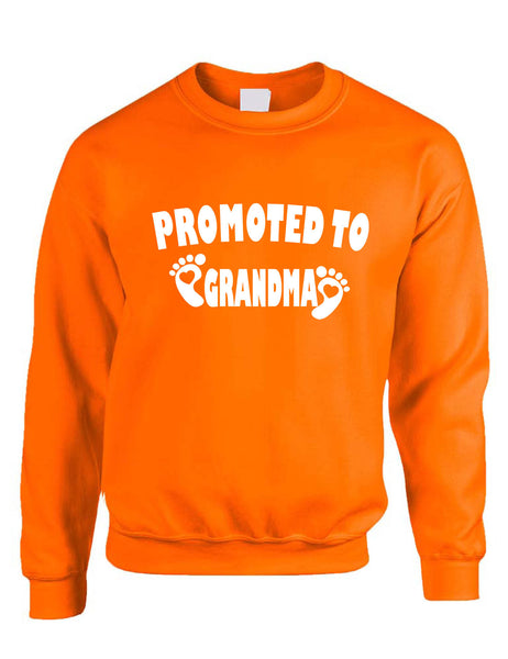 Adult Sweatshirt Promoted To Grandma New Baby Announcement Idea