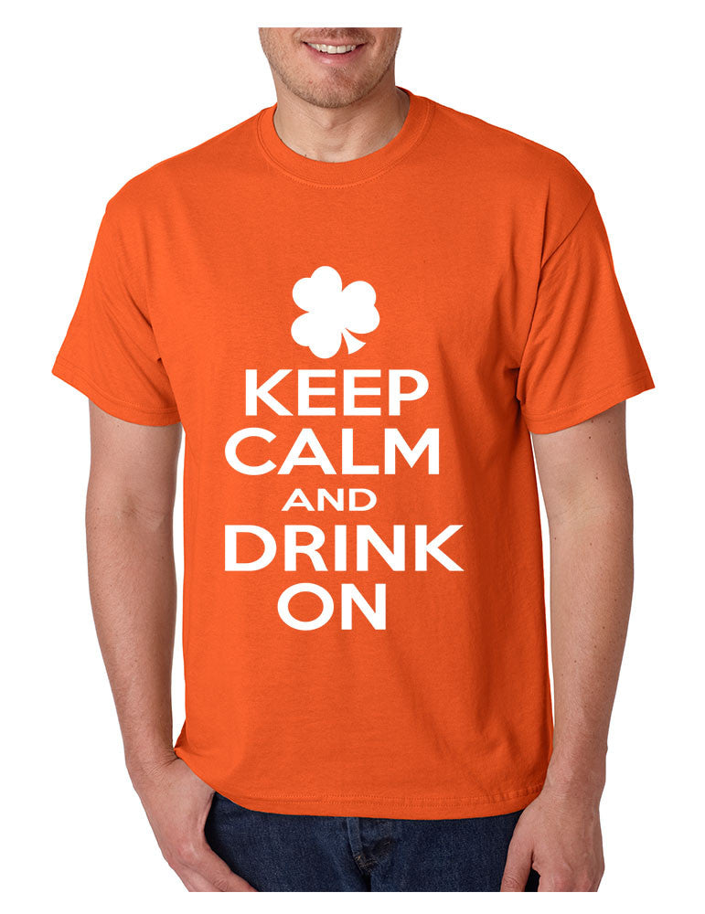 Keep calm and drink on Men T-shirt saint patricks day - ALLNTRENDSHOP - 1