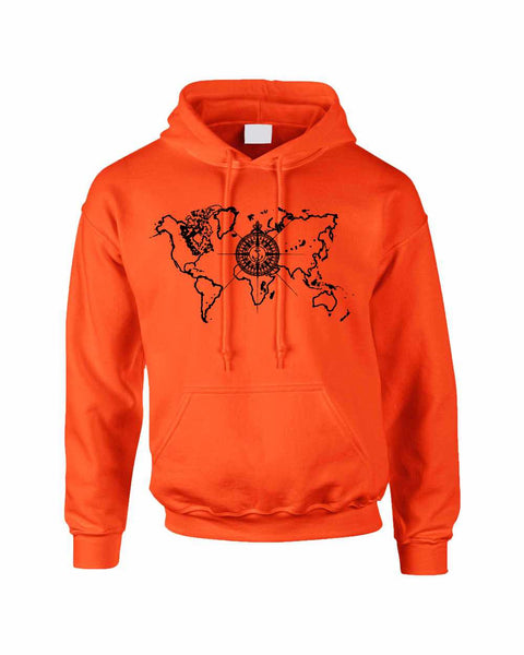 Adult Hoodie World Map Compass Cool Stuff Trendy Top - ALLNTRENDSHOP - 6