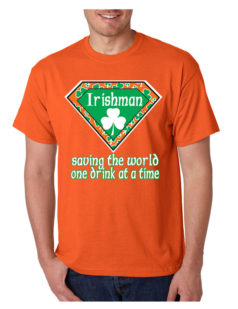 Irishman saving the world st patricks men t-shirt - ALLNTRENDSHOP - 4