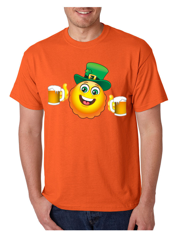Irish smiling Emoji ST patricks men t-shirt - ALLNTRENDSHOP - 1