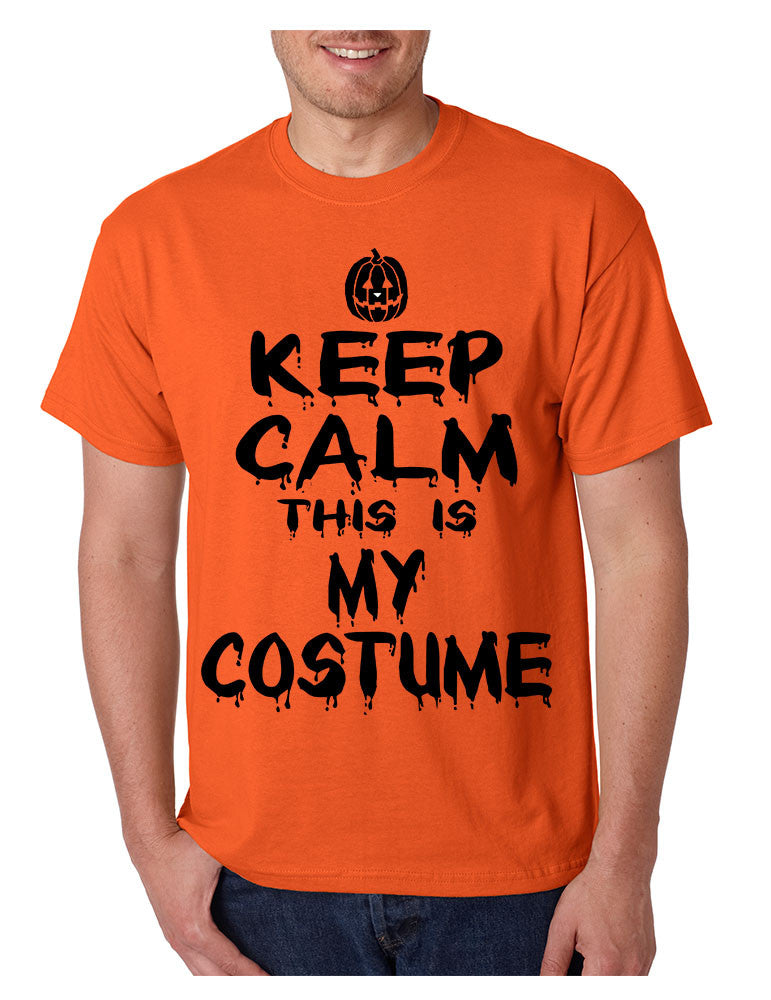 Men's T Shirt Keep Calm This Is My Costume Cool Halloween T Shirt - ALLNTRENDSHOP