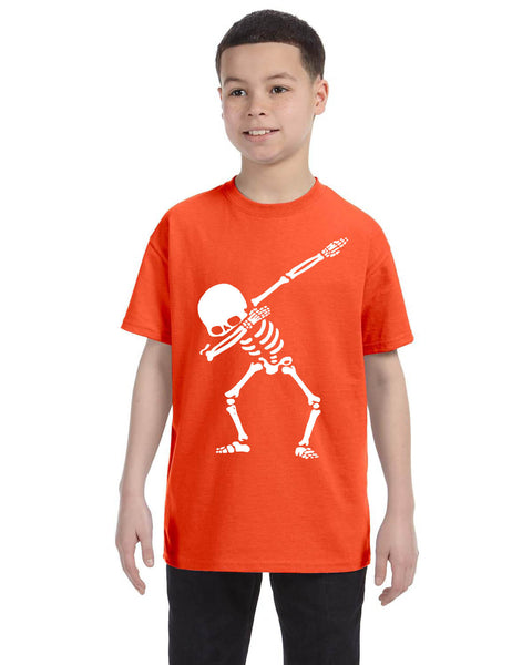 Kids Youth T Shirt Dabbing Skeleton Cool Hip Hop Dab Skull Shirt Gift
