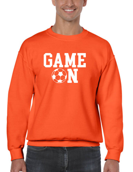 Adult Sweatshirt Game On Soccer Shirt Team Gift Love Sport Fans Top