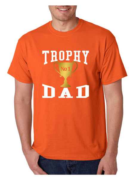 Men's T Shirt Trophy Dad Love Father Shirt Daddy Cool Gift - ALLNTRENDSHOP - 3