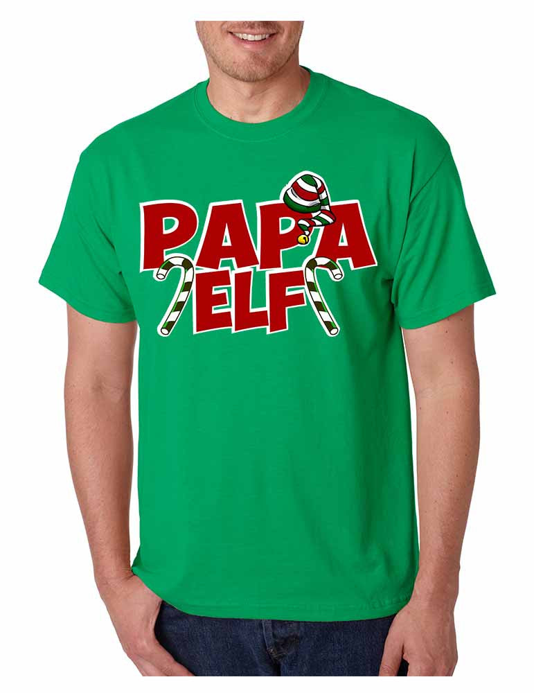 Men's T Shirt Papa Elf Ugly Christmas Cool Holiday Gift Idea - ALLNTRENDSHOP