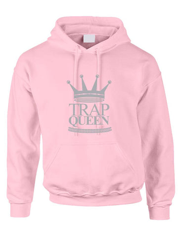 Trap Queen Hooded sweatshirt women - ALLNTRENDSHOP - 1