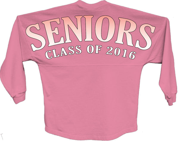 Seniors class of 2016 orange pom print J america shirt - ALLNTRENDSHOP - 3