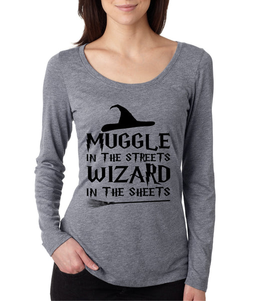Women's Shirt Muggle In The Streets Wizard In The Sheets - ALLNTRENDSHOP - 2
