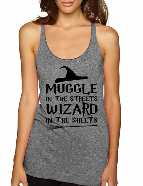 Women's Tank Top Muggle In The Streets Wizard In The Sheets - ALLNTRENDSHOP - 4