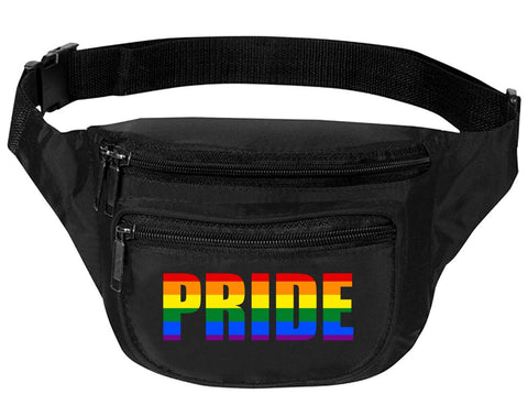 Adult Waist Pack Pride Raibnow Colors Support Gay Gift Cool Fun Packs