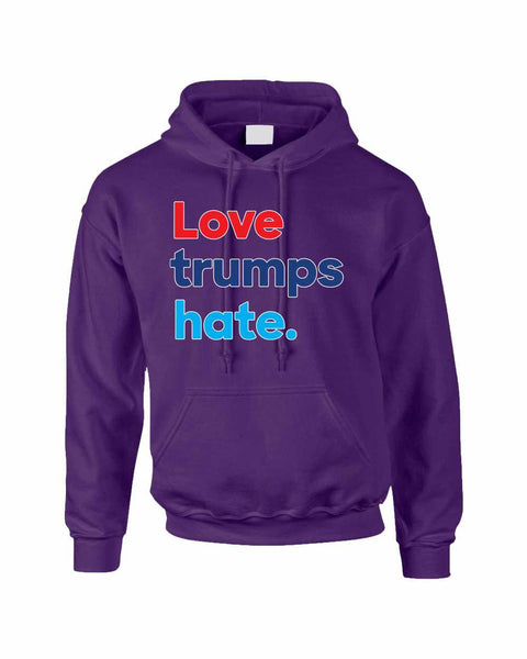 Adult Hoodie Love Trumps Hate Donald Trump USA Sweater - ALLNTRENDSHOP - 4