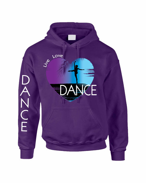 Adult Hoodie Dance Art Purple Print Love Cute Top Nice Gift - ALLNTRENDSHOP - 3