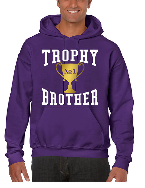 Men's Hoodie Trophy Brother Love Family Gift Cool Graphic Top - ALLNTRENDSHOP - 4