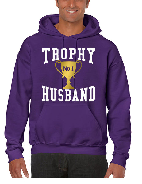 Men's Hoodie Trophy Husband Cool Xmas Gift Love Family Top - ALLNTRENDSHOP - 4