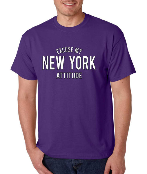 Men's T Shirt Excuse My New York Attitude Humor Funny T Shirt - ALLNTRENDSHOP - 4