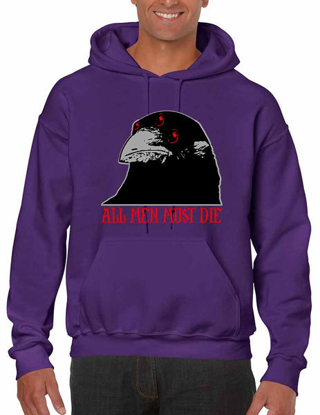 Three-eyed Crow All men must die men hooded sweatshirt - ALLNTRENDSHOP - 5