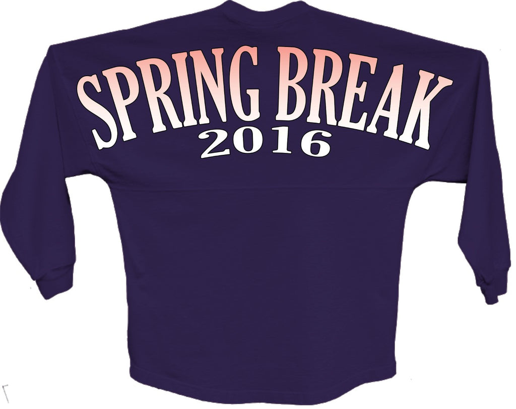 Spring break 2016 orange pom print J america shirt - ALLNTRENDSHOP - 1