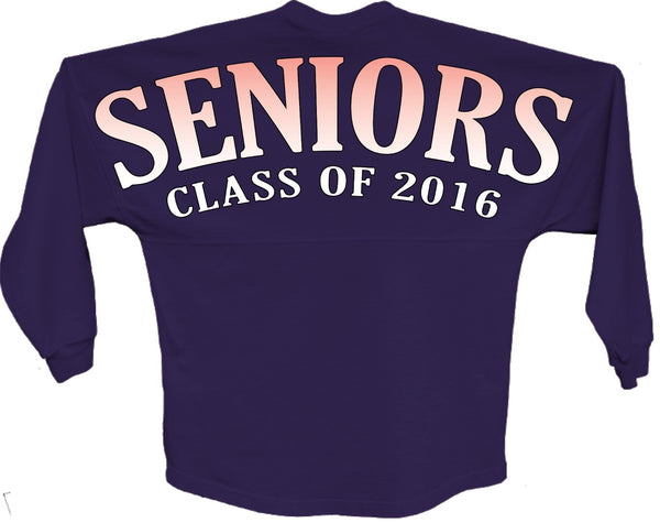 Seniors class of 2016 orange pom print J america shirt - ALLNTRENDSHOP - 4