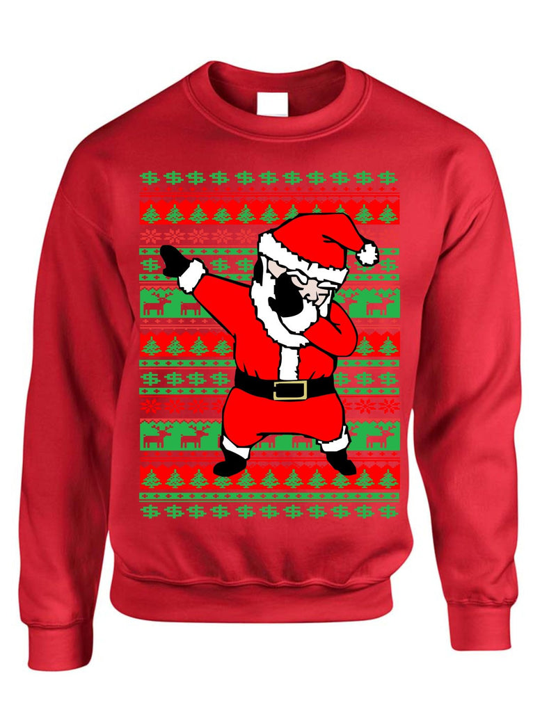 dabbing santa ugly christmas sweater women sweatshirt allntrendshop